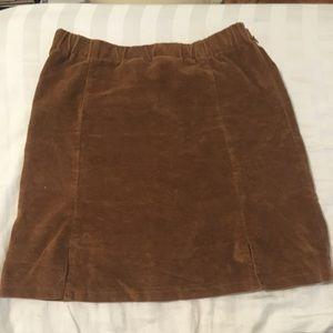 Brandy Melville slit velvet skirt